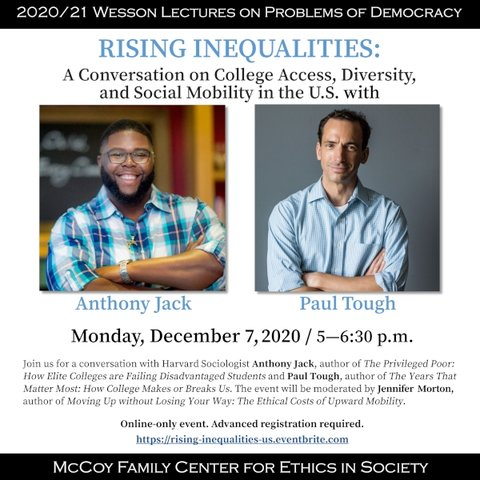 Rising Inequalities: A Conversation on College Access, Diversity, and Social Mobility in the U.S.