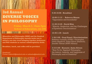 3rd Annual Diverse Voices in Philosophy (MAP)